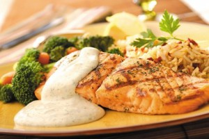 Wildtree Grilled Salmon with Dill Sauce