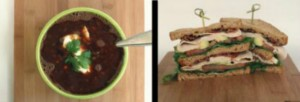 Wildtree Black Bean Soup & Turkey & Avocado Club