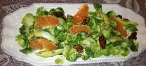 Brussel Sprouts & Avocado Salad