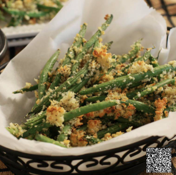 Baked Green Bean Fries with Garlic Aioli